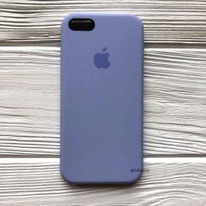 Оригинальный силиконовый чехол (Silicone case) для Iphone 5 / 5s / SE  №39 (Lilac)