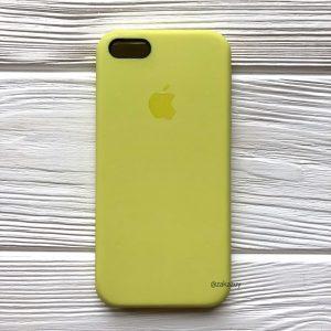 Оригинальный силиконовый чехол (Silicone case) для Iphone 5 / 5s / SE  №42 (Lime)