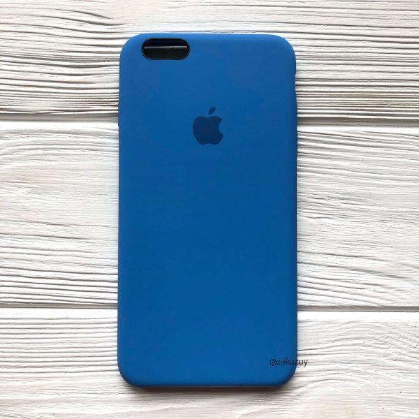 Оригинальный чехол Silicone Case с микрофиброй для Iphone 6 Plus / 6s Plus №12 (Blue)