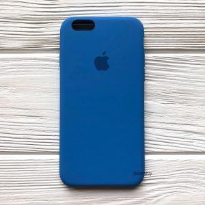 Оригинальный чехол Silicone Case с микрофиброй для Iphone 6 / 6s №12 (Blue)