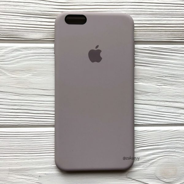 Оригинальный чехол Silicone Case с микрофиброй для Iphone 6 Plus / 6s Plus №34 (Lavender)