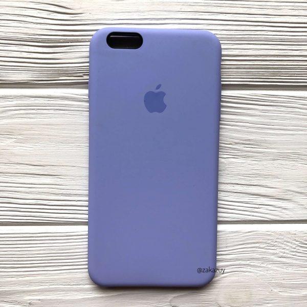 Оригинальный чехол Silicone Case с микрофиброй для Iphone 6 Plus / 6s Plus №39 (Lilac)