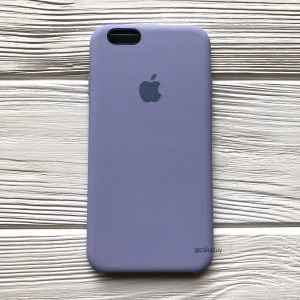 Оригинальный чехол Silicone Case с микрофиброй для Iphone 6 / 6s №39 (Lilac)