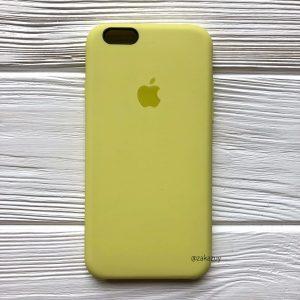 Оригинальный силиконовый чехол (Silicone case) для Iphone 6 / 6s  №42 (Lime)