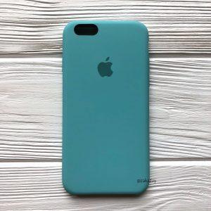 Оригинальный силиконовый чехол (Silicone case) для Iphone 6 / 6s  №23 (Mint)