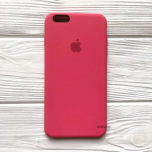 Оригинальный чехол Silicone Case с микрофиброй для Iphone 6 / 6s №40 (Rose)