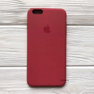 Оригинальный чехол Silicone Case с микрофиброй для Iphone 6 Plus / 6s Plus №24 (Rouge)