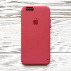 Оригинальный чехол Silicone Case с микрофиброй для Iphone 6 / 6s №24 (Rouge)