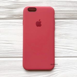 Оригинальный чехол Silicone Case с микрофиброй для Iphone 6 / 6s №24 (Rouge)