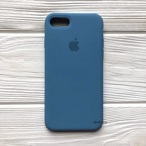 Оригинальный чехол Silicone Case с микрофиброй для Iphone 7 / 8 / SE (2020) №36 (Azure)