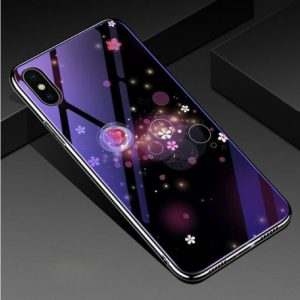 TPU+Glass чехол (накладка) Fantasy с глянцевыми торцами для Iphone XS Max (Bubbles with flowers)