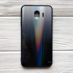 Чехол (накладка) TPU+Glass с градиентом Gradient Aurora для Samsung J400 Galaxy J4 2018 (Серый)