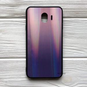 Чехол (накладка) TPU+Glass с градиентом Gradient Aurora для Samsung J400 Galaxy J4 2018 (Розовый / Фиолетовый)