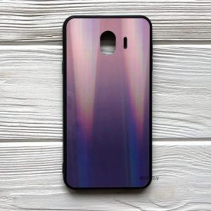 TPU+Glass чехол Gradient Aurora с градиентом  для Samsung J400 Galaxy J4 2018 (Розовый / Фиолетовый)