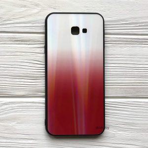 TPU+Glass чехол Gradient Aurora с градиентом для Samsung J415 Galaxy J4 Plus 2018 (Белый / Красный)