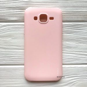 Матовый силиконовый (TPU) чехол (накладка) для Samsung J500 Galaxy J5 2015 (Светло-розовый / Light Pink)