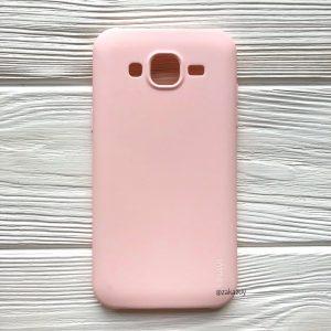 Матовый силиконовый (TPU) чехол (накладка) для Samsung J500 Galaxy J5 2015 (Светло-розовый)