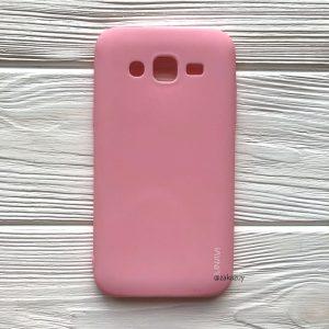Матовый силиконовый (TPU) чехол (накладка) для Samsung J500 Galaxy J5 2015 (Розовый / Pink)