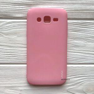 Матовый силиконовый (TPU) чехол для Samsung J500 Galaxy J5 2015 (Розовый)