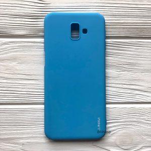Матовый силиконовый (TPU) чехол (накладка) для Samsung J610 Galaxy J6 Plus 2018 (Голубой / Blue)
