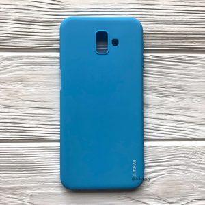 Матовый силиконовый (TPU) чехол для Samsung Galaxy J6 Plus 2018 (J610) (Голубой)