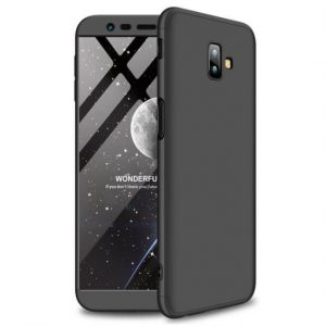Матовый пластиковый чехол GKK 360 градусов для Samsung J610 Galaxy J6 Plus (Black)
