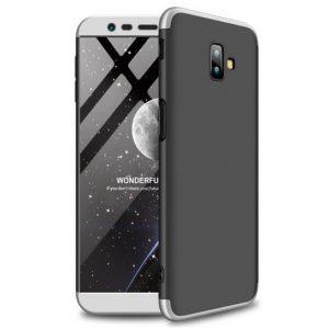 Матовый пластиковый чехол GKK 360 градусов для Samsung J610 Galaxy J6 Plus (Silver)