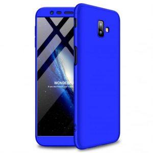 Матовый пластиковый чехол GKK 360 градусов для Samsung J610 Galaxy J6 Plus (Blue)