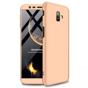 Матовый пластиковый чехол GKK 360 градусов для Samsung J610 Galaxy J6 Plus (Gold)
