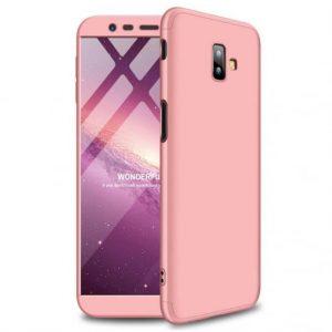 Матовый пластиковый чехол GKK 360 градусов для Samsung J610 Galaxy J6 Plus (Rose Gold)
