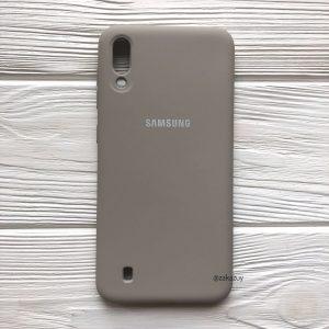 Оригинальный матовый силиконовый чехол (Silicone Cover) 360 для Samsung M10 (Серый / Grey)