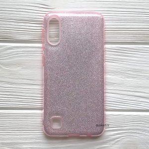 Cиликоновый (TPU+PC) чехол Shine с блестками для Samsung Galaxy A10 2019 (A105) / M10 (Розовый)
