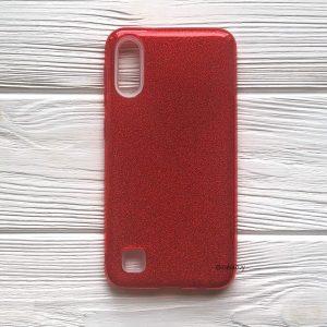 Cиликоновый (TPU+PC) чехол Shine с блестками для Samsung Galaxy A10 2019 (A105) / M10 (Красный)