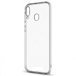 Прозрачный силиконовый (TPU) чехол (накладка) для Samsung M20 (Сlear)