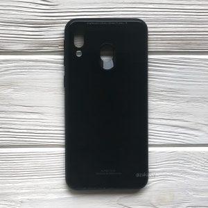 TPU+Glass чехол Gradient Aurora с градиентом  для Samsung M20 (Черный / Black)