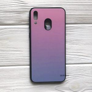 TPU+Glass чехол Gradient Aurora с градиентом для Samsung M20 (Розовый / Pink)