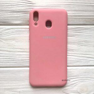 Оригинальный матовый силиконовый чехол (Silicone Cover) 360 для Samsung M20 (Розовый / Pink)