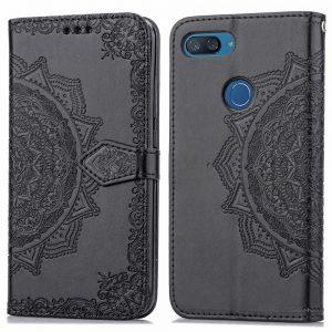 Кожаный чехол-книжка Art Case с визитницей для Xiaomi Mi 8 Lite (Черный / Black)