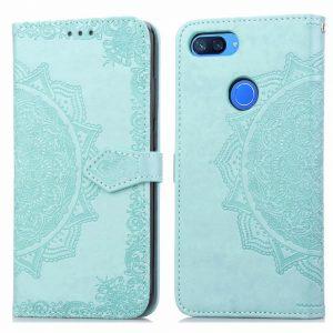 Кожаный чехол-книжка Art Case с визитницей  для Xiaomi Mi 8 Lite (Зеленый / Green)