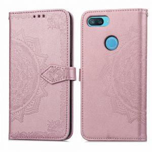 Кожаный чехол-книжка Art Case с визитницей для Xiaomi Mi 8 Lite (Розовый / Pink)