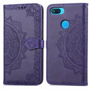 Кожаный чехол-книжка Art Case с визитницей  для Xiaomi Mi 8 Lite (Фиолетовый / Violet)