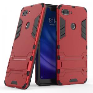 Ударопрочный чехол Transformer с подставкой для Xiaomi Mi 8 Lite (Red)