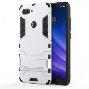 Ударопрочный чехол Transformer с подставкой для Xiaomi Mi 8 Lite (Silver)