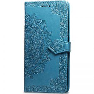 Кожаный чехол-книжка Art Case с визитницей для Xiaomi Redmi 7A (Синий)
