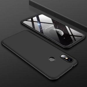 Матовый пластиковый чехол GKK 360 градусов для Xiaomi Redmi Note 6 / 6 Pro (Черный)