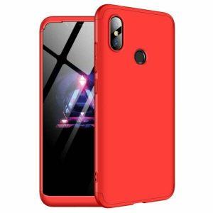 Матовый пластиковый чехол GKK 360 градусов для Xiaomi Redmi Note 6 / 6 Pro (Красный)