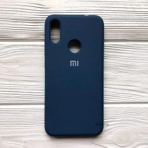 Оригинальный матовый силиконовый чехол (Silicone Cover) 360 для Xiaomi Redmi 6 Pro / Mi A2 Lite (Синий / Blue