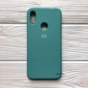 Оригинальный чехол Silicone Cover 360 с микрофиброй для Xiaomi Redmi 7 (Бирюзовый)