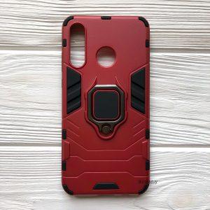 Ударопрочный чехол Transformer Ring под магнитный держатель для Huawei P30 Lite (Red)