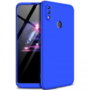 Матовый пластиковый чехол GKK 360 градусов для Huawei P Smart 2019 / Honor 10 Lite (Синий)